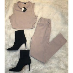 NEW Taupe Knit Set Small
